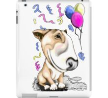 Party Bull Terrier Tan iPad Case/Skin