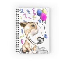 Party Bull Terrier Tan Spiral Notebook