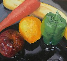 Still Life of Assorted Fruit by Jane Ianniello