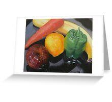 Still Life of Assorted Fruit Greeting Card