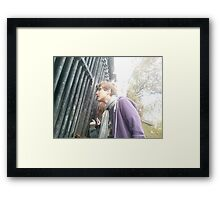 Looking into the crypt Framed Print