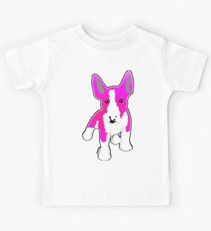 Pink Graphic EBT Puppy Kids Tee