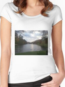 Tranquil Pond Women's Fitted Scoop T-Shirt