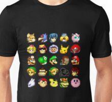 Super Smash Bros. Melee Neutral Stock Icons Unisex T-Shirt