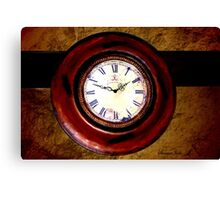 Beckley Exhibition Coal Mine ~ Clock Canvas Print