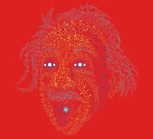 Acid Scientist tongue out psychedelic art poster Kids Clothes