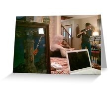 Flute Concert for Grandmother Greeting Card