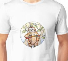 Sloth playing a ukulele Unisex T-Shirt