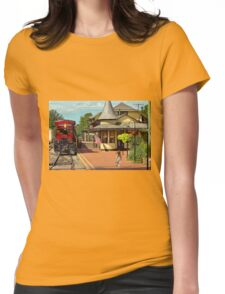 Train Station - There will always be hope Womens Fitted T-Shirt