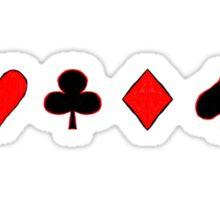 Four Suits Sticker