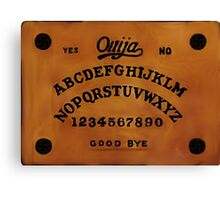 Ouija Board Occult Graphics Canvas Print