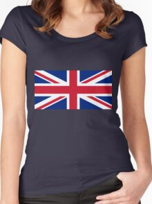 United Kingdom Flag Women's Fitted Scoop T-Shirt