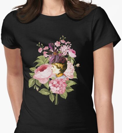 Victorian Rose Womens Fitted T-Shirt