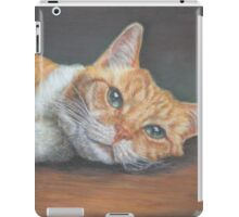 Cat Art - Orange Tabby Cat - Do not disturb me, please iPad Case/Skin