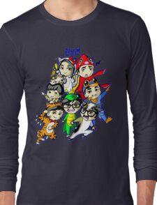 Running Man Kigurumi Long Sleeve T-Shirt