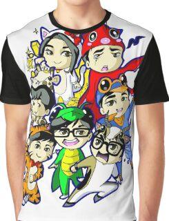 Running Man Kigurumi Graphic T-Shirt