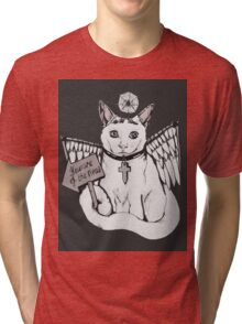 Beware Of The Meow / Pet Monsters! Tri-blend T-Shirt