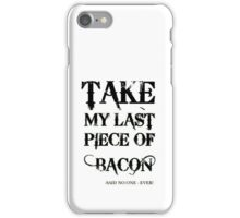Bacon Typography iPhone Case/Skin