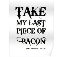Bacon Typography Poster
