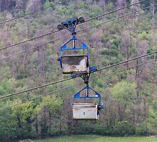 cableway in the mountains by spetenfia