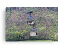 cableway in the mountains Canvas Print