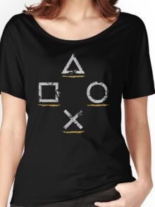 PlayStation Button Icons Uncharted Style Women's Relaxed Fit T-Shirt