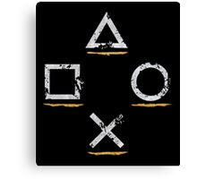 PlayStation Button Icons Uncharted Style Canvas Print