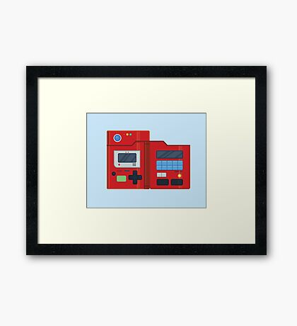 Minimalist Kanto Pokedex Framed Print