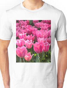 No Spanking The Monkey©WEAR Pink Tulips  Unisex T-Shirt