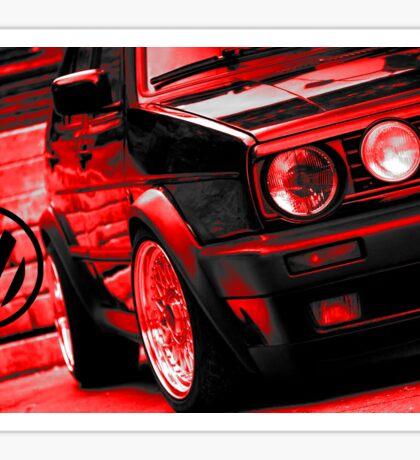 Golf GTI Red Artwork Sticker