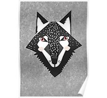 Red eyed wolf Poster