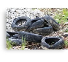 old tires Canvas Print
