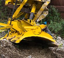 bulldozer in the mountains by spetenfia