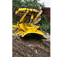 bulldozer in the mountains Photographic Print