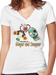 Ginger and Snapper Women's Fitted V-Neck T-Shirt