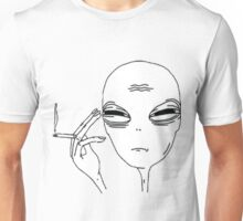 Smoking Alien Unisex T-Shirt