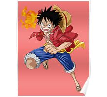 luffy attack Poster