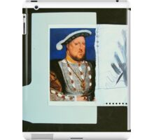 Enrique VIII and curtain drawing iPad Case/Skin