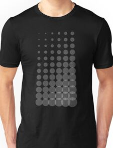 Growing Concentric Circles (White on Dark Shirt) Unisex T-Shirt