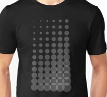 Growing Concentric Circles (White on Dark Shirt) Unisex T-Shirt