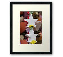 Christmas decorative star Framed Print