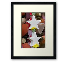 Christmas decorative star Framed Print