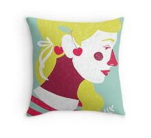 cherries on your ears Throw Pillow