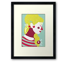 cherries on your ears Framed Print