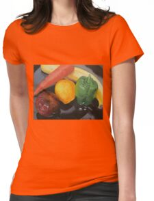 Still Life of Assorted Fruit Womens Fitted T-Shirt