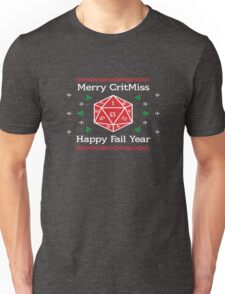 Merry CritMiss and Happy Fail Year Unisex T-Shirt