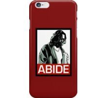 Jeff Lebowski (the dude) abides - the big lebowski iPhone Case/Skin