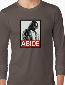 Jeff Lebowski (the dude) abides - the big lebowski Long Sleeve T-Shirt