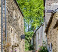 A Back Alley in Rochefort-en-Terre, Brittany, France Sticker