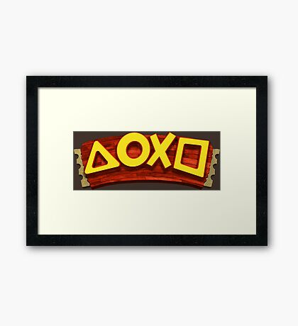PlayStation Button Icons Crash Bandicoot Style Ver. 2 Framed Print